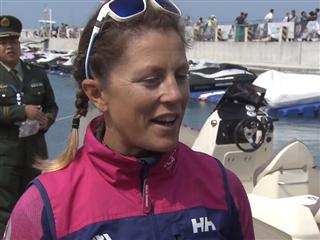 Leg 4 dock interviews with Samantha Davies (GBR)