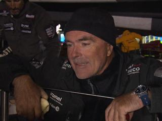 Leg 6 arrival interviews with Bouwe Bekking (NED)