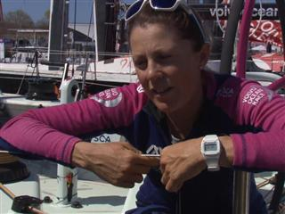 Leg 6 arrival interviews with Samantha Davies (GBR)