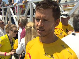 Leap of faith for True Blood star Ryan Kwanten at the Volvo Ocean Race leg 7 Start in Newport, R.I.