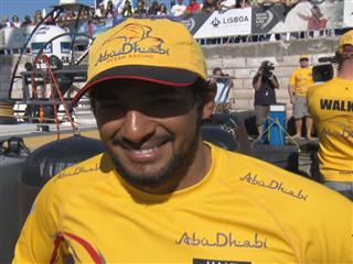 Leg 7 arrival  Interview with Adil Khalid (UAE)