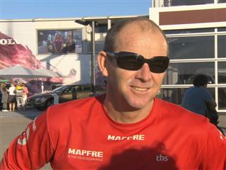 Leg 7 finish Interview with Jean-Luc Nelias (FRA)