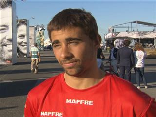 Leg 7 finish Interview with Willy Altadil (ESP)