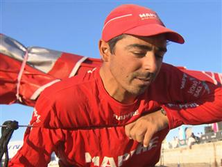 Leg 7 finish Interview with Andre Fonseca (BRA)