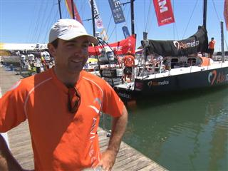 Pre-Leg 8 Interview with Charlie Enright (USA)
