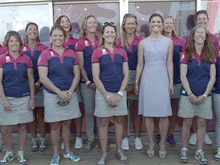 Crown Princess of Sweden, Victoria, sails with Team SCA in Lisbon
