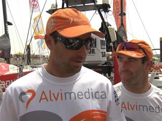 Leg 8 Start Interview with Sébastien Marsset (FRA)