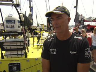 Leg 8 Start Interviews with Bouwe Bekking (NED)
