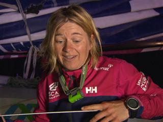 Leg 8 Win Interview with Swedish Onboard Reporter Anna-Lena Elled (SWE)