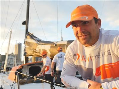 Leg 5 - Dock interview with Charlie Enright (USA)