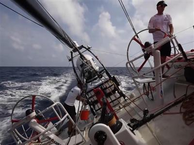 Thirsty work for Dongfeng crew: electric water-maker not working
