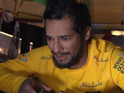 Leg 6 arrival interview with Adil Khalid (UAE)