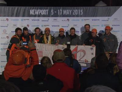 "Team Alvimedica, fifth in Newport ""It's where the dream all began!"""
