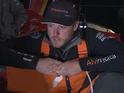 Leg 6 arrival interview with Nick Dana (USA)