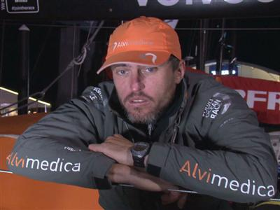 Leg 6 arrival interview with Alberto Bolzan (ITA)
