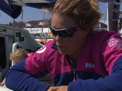 Leg 6 arrival interview with Sally Barkow (USA)