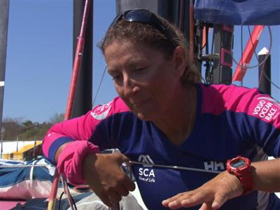 Leg 6 arrival interview with Dee Caffari (GBR)