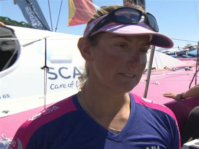 Leg 7 arrival Interview with Dee Caffari (GBR)