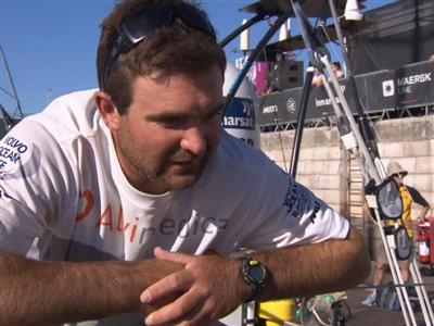 Leg 7 arrival interview with Charlie Enright (USA)