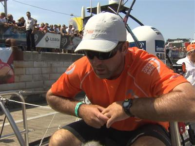 In-Port Race podium Interview with Charlie Enright (USA)