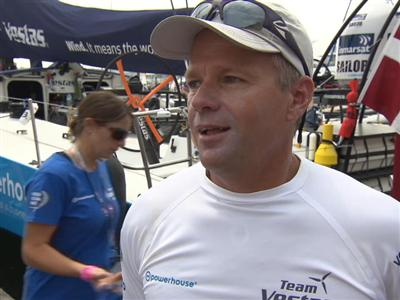 Leg 8 Start Interview with Chris Nicholson (AUS)