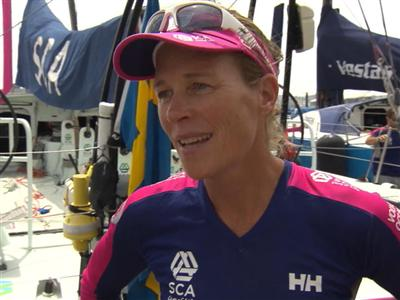 Leg 8 Start Interviews with Carolijn Brouwer (NED)