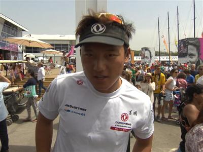 Leg 8 Start Interview with Horace (CHN)