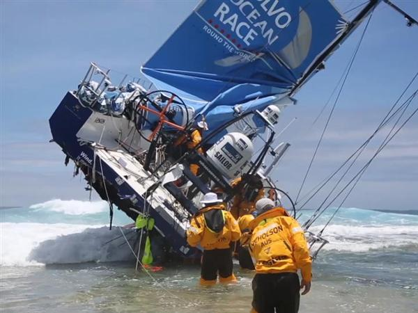 Team Vestas Wind crash footage, skipper interview, crew safe