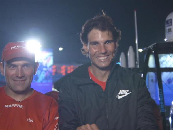 Rafael Nadal paid a New Year's Day visit to the Abu Dhabi Destination Village