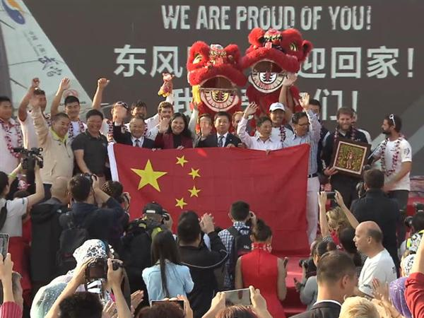 Dongfeng Race Team makes race history in the Leg 3 of the Volvo Ocean Race