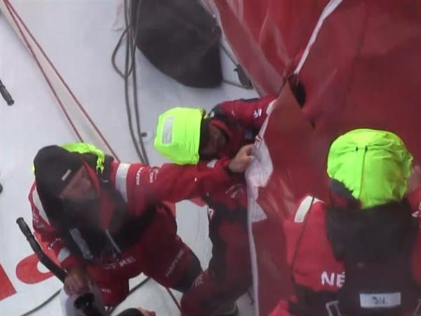 Wild night in the Southern Ocean - 3 Chinese gybes and one near wipe-out