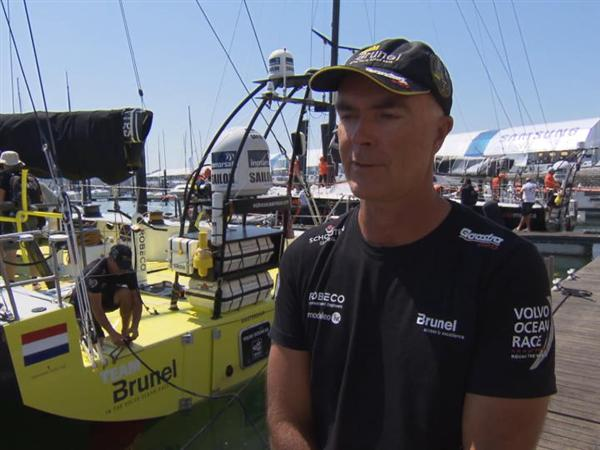 Pre-Leg 8 Interviews with Bouwe Bekking (DUT)
