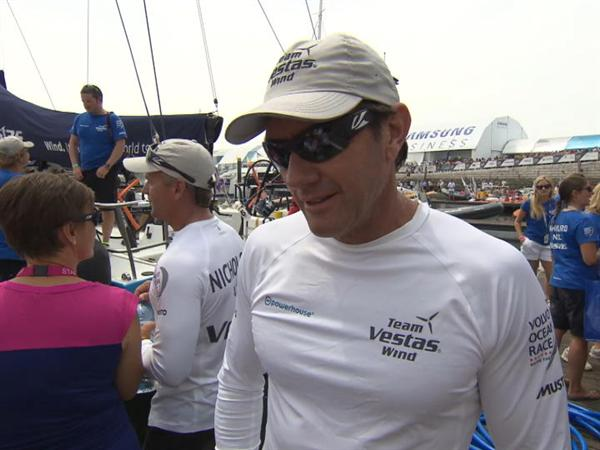Leg 8 Start Interview with Tony Rae (ENG)