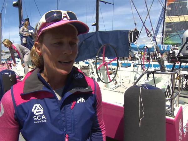 Leg 9 Restart Interview - Carolijn Brouwer (NED)