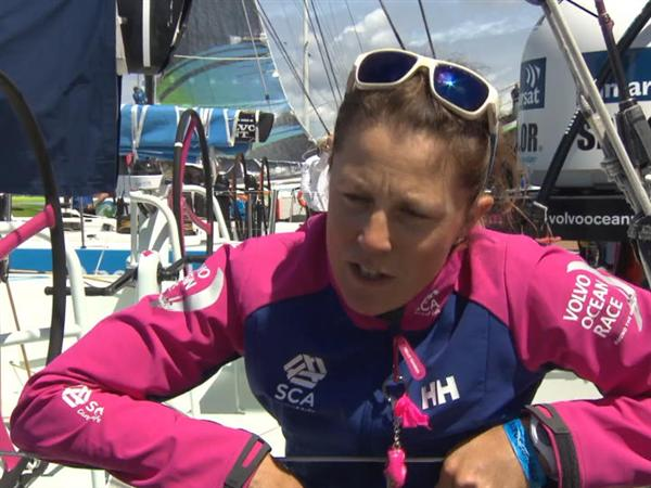 Leg 9 Restart  Interviews - Samantha Davies (GBR)