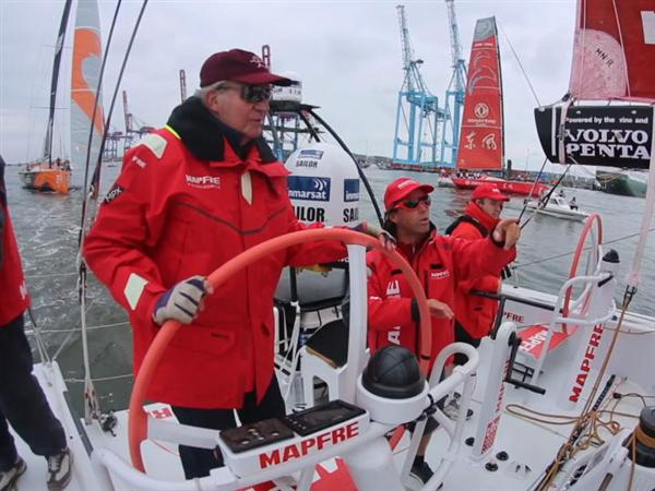 Members of Spanish and Swedish royal families join Race fleet in Gothenburg