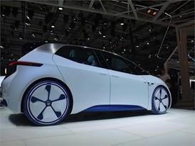Desginer Showing Volkswagen I.D. Concept Car - Paris 2016
