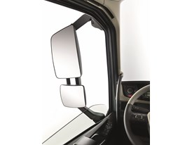 The new Volvo FH - rear view mirror from inside the cab