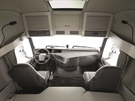 The cab is one cubic meter bigger than previous models