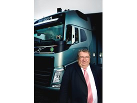 Mr. Ducournau with new truck