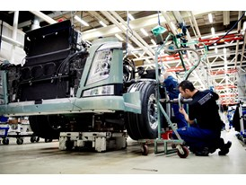 Truck assembly at Tuve Plant, Sweden