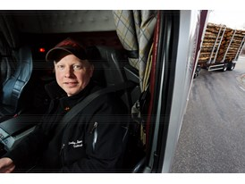 Johan Sundberg from Sundsbergs Haulage Company driving