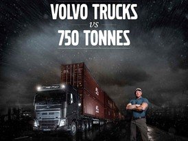 Volvo FH16 and I-Shift with Crawler Gears Pulls 750 Tonnes from Standstill