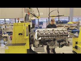 Volvo Trucks engine plant in Skovde, Sweden