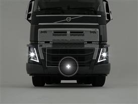 The Volvo FH with a new heavy duty bumper for rougher conditions