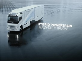 Introducing the Volvo Concept Truck featuring a hybrid powertrain