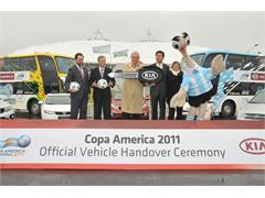 Kia Motors Hands Over Vehicle Fleet for Copa America 2011