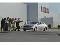 Kia Optima Hybrid Sets New Guinness World Record for Fuel Economy