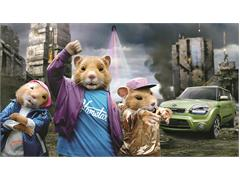 "Kia's Music-Loving Hamsters Named First-Ever ""Rookie of the Year"" in Annual Madison Avenue Advertising Walk of Fame Public Vote"