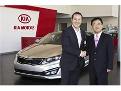 Kia's White Optima